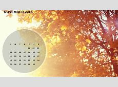 November 2018 Calendar Wallpaper Desktop Background Screen