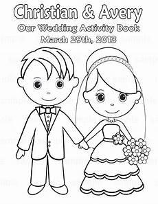 Malvorlagen Wedding Printable Personalized Wedding Coloring Activity By