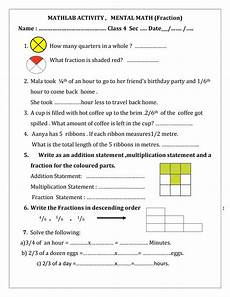 fraction worksheet for grade 6 cbse 4253 worksheet on fractions class 4 printable worksheets and activities for teachers parents