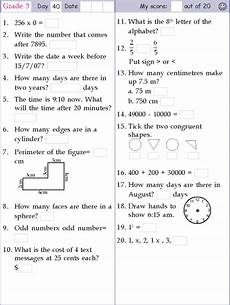 mental math grade 3 day 40 grade 5 math worksheets math worksheets mental maths worksheets
