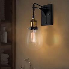 industrial style teardrop shaped clear glass black indoor wall light bath sconce ebay