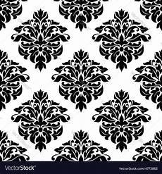 Stoff Mit Ausgefallenem Blumenmuster - floral decorative seamless pattern vector image