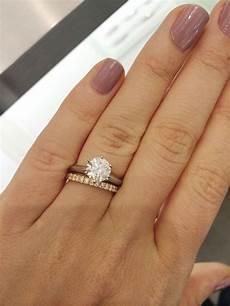 rose gold wedding band with platinum engagement ring platinum engagement ring rose gold band no no