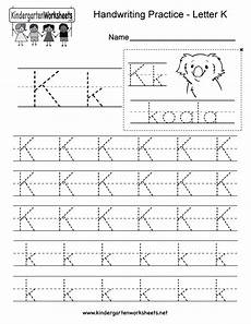 free letter k worksheets for preschool 24376 letter k writing practice worksheet free kindergarten worksheet for