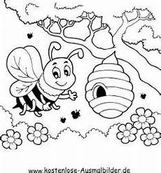 Ausmalbild Biene Imker Beehive Coloring Pages For Craft