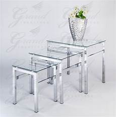 Nest Of Glass Coffee Tables elsa range clear glass nest of tables coffee side coffee