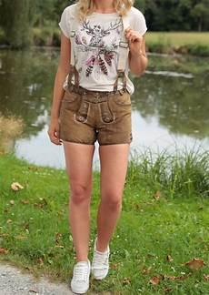 country line trachtenlederhose kurz damen im used look