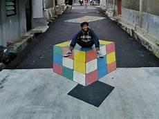 Mantap Lukisan 3d Jalanan Karya Remaja Di Depok