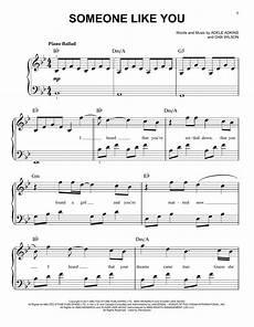 someone like you sheet music by adele easy piano 85999