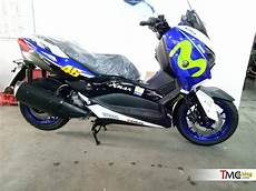 Modifikasi Xmax 250 by Modifikasi Yamaha Xmax 250cc Livery Motogp Movistar 46