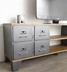 meuble tv industriel 8 tiroirs m 233 talliques authentiques