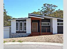 Mid Century Modern exterior elevation with black/white