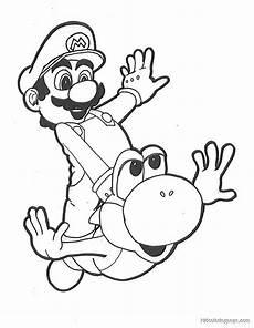 Malvorlagen Mario Und Yoshi No Mario Yoshi Coloring Pages