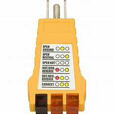 ground fault indicator tester wiring diagram american recorder technologies ground fault outlet receptacle tester 110v guitar center