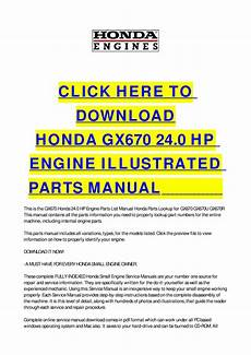 small engine repair manuals free download 2000 toyota corolla electronic toll collection honda gx670 24 0 hp engine illustrated parts manual by cycle soft issuu