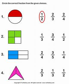 identify fraction represented by shaded part worksheet turtle diary