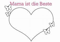 Malvorlage Herz Muttertag Herz Malen Vorlage