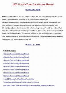 car repair manuals online pdf 2002 lincoln town car regenerative braking 2002 lincoln town car owners manual by kristinakeenan issuu