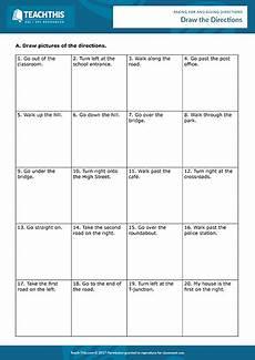 giving directions esl activities games worksheets