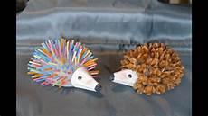 Tiere Animals Basteln Igel Basteln Mit Naturmaterialien