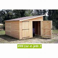 garage bois 12 m 178 1 pan garages et abris auto bois cour