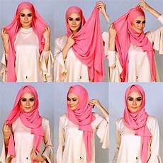 Foto Tutorial Pashmina Simple Ala Nissa Sabyan