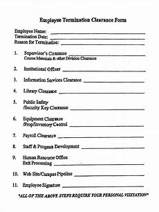 free 5 employment clearance forms in pdf