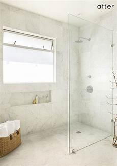 Duschwand Glas Walk In - walk in standing shower with glass wall and no door no
