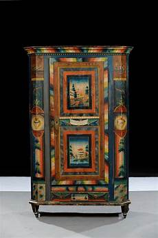 armadi tirolesi antichi armadio in legno laccato in policromia arte tirolese xix