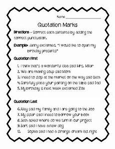 quotation marks worksheet review by kari marino tpt