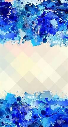 Iphone Lock Screen Watercolor Wallpaper by Blue Watercolour Splash Frame Pastel Geometric Iphone
