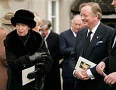 Andrew Bowles - princess comforts andrew bowles at funeral of