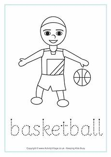 sports tracing worksheets 15881 basketball word tracing