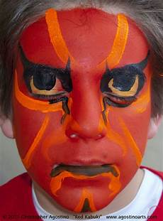 face painting kabukisamuraired 110305 agostinoarts 171 the
