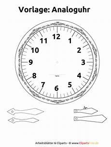 Uhr Malvorlagen Zum Ausdrucken Lernuhr Basteln Vorlage