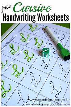 homeschool handwriting worksheets 21410 free cursive handwriting worksheets instant free homeschool deals