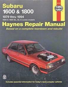 electric power steering 1989 subaru leone electronic valve timing subaru 1600 1800 1979 1994 haynes owners service repair manual 1563922851 9781563922855