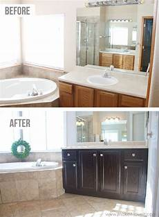 how you can stain oak kitchen cabinets and bathroom vanities without sanding diy oak