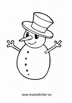 Ausmalbilder Weihnachten Schneemann Ausmalbilder Schneemann Schneemann Mit Hut