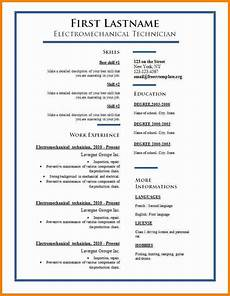 6 english resume template word penn working papers