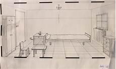 Fluchtpunkt Zeichnen Zimmer - perspektive