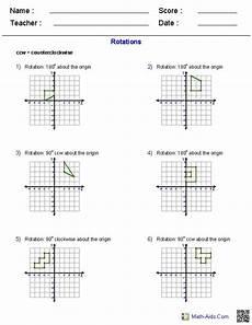 rotations worksheets geometry worksheets transformations math math worksheets