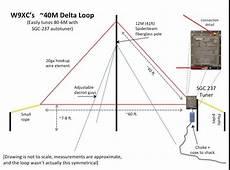 küchenzeile 2 40m 40m delta loop ham radio antenna diy tv antenna ham radio