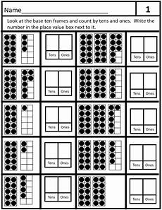 place value with ten frame cards teaching resources