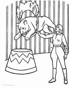 ausmalbilder zirkus tiere