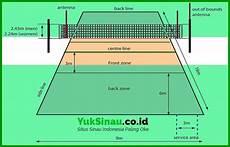 Ukuran Lapangan Bola Voli Beserta Gambar Lengkap