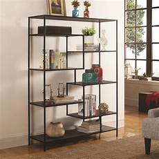coaster bookcases modern bookcase with offset shelves furniture superstore rochester mn