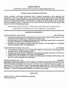 sales marketing specialist resume use of lines bold underline and italics for attention to