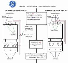 general electric motor starter 1 phase and 3 phase wiring diagrams elec eng world