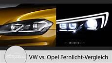 Volkswagen Led Scheinwerfer Vs Opel Matrix Led Pro Und